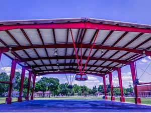 Basketball Court Awning